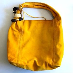 Jimmy Choo Saba Hobo Bag - Mustard Yellow